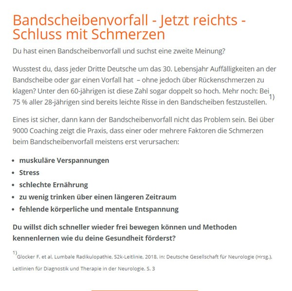 Bandscheibenvorfall