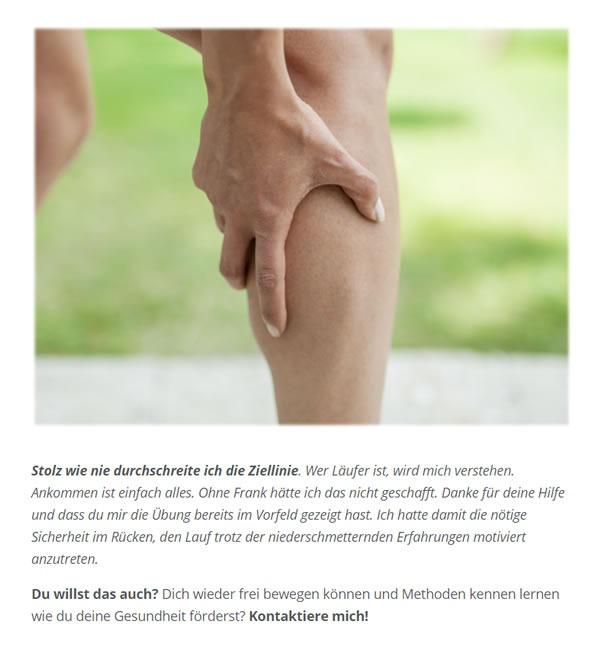 Muskelkrampf Wade Laufen für  Verl