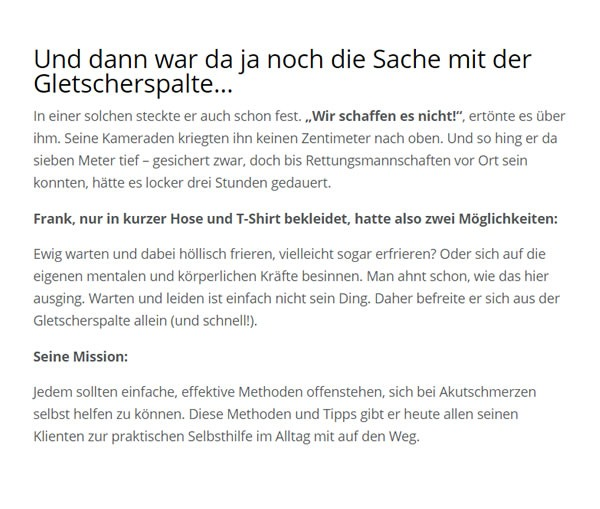 Schmerzpatienten Selbsthilfe aus 49176 Hilter (Teutoburger Wald)